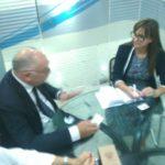 Con Ermenita Harasani Direttore Generale Intesa Sanpaolo Bank Albania